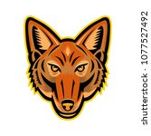 mascot icon illustration of...   Shutterstock .eps vector #1077527492