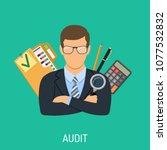 auditing  tax  business... | Shutterstock .eps vector #1077532832