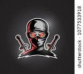 ninja mascot logo vector.... | Shutterstock .eps vector #1077533918
