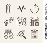 line outline vector icon set on ...