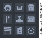 premium set of fill icons. such ... | Shutterstock .eps vector #1077537542