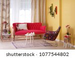 modern and classic interior... | Shutterstock . vector #1077544802