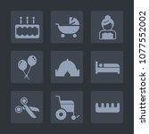 premium set of fill icons. such ...   Shutterstock .eps vector #1077552002