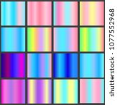 a set of gradient linear... | Shutterstock . vector #1077552968
