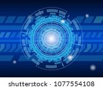 abstract technology various... | Shutterstock .eps vector #1077554108