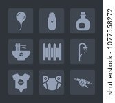 premium set of fill icons. such ... | Shutterstock .eps vector #1077558272