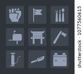 premium set of fill icons. such ... | Shutterstock .eps vector #1077560615