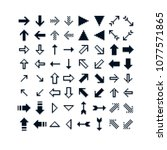 different vector arrows  pixel... | Shutterstock .eps vector #1077571865