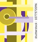 abstract suprematism... | Shutterstock .eps vector #1077572096