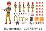 paintball player male vector....   Shutterstock .eps vector #1077579416