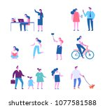 different people characters.... | Shutterstock .eps vector #1077581588