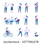 different people characters.... | Shutterstock .eps vector #1077581678
