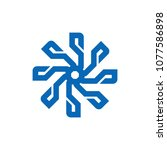 abstract logo template | Shutterstock .eps vector #1077586898