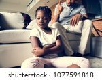 father disciplining his daughter | Shutterstock . vector #1077591818