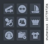 premium set of fill icons. such ... | Shutterstock .eps vector #1077597356