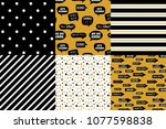 graduation pattern collection.... | Shutterstock .eps vector #1077598838