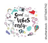 fashion patch badges with...   Shutterstock .eps vector #1077604742