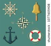 illustration of set of marine...   Shutterstock .eps vector #1077605408