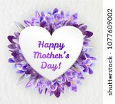 mothers woman day greeting card ... | Shutterstock .eps vector #1077609002