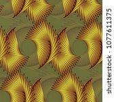 decorative seamless pattern... | Shutterstock . vector #1077611375