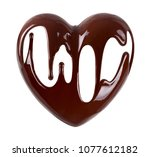 chocolate in the form of heart. ... | Shutterstock . vector #1077612182