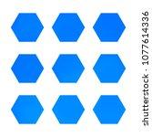 design hexagonal vector logo... | Shutterstock .eps vector #1077614336