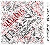 vector conceptual human rights... | Shutterstock .eps vector #1077619148