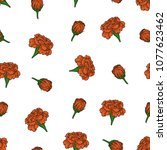 vector color seamless pattern... | Shutterstock .eps vector #1077623462