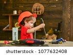 handcrafting and workshop...   Shutterstock . vector #1077632408