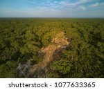 view from above on moremi... | Shutterstock . vector #1077633365