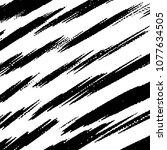 black and white grunge stripe... | Shutterstock .eps vector #1077634505