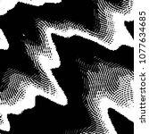 black and white grunge stripe... | Shutterstock .eps vector #1077634685