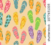 pattern from  colorful flip... | Shutterstock .eps vector #1077651335