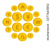 currency from different... | Shutterstock .eps vector #1077665852