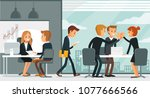 illustration with business... | Shutterstock .eps vector #1077666566