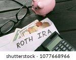 pension concept.retirement... | Shutterstock . vector #1077668966