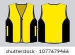 vest tank top design yellow...   Shutterstock .eps vector #1077679466