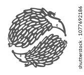 yin yang hedgehogs | Shutterstock .eps vector #1077692186