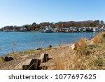 gorgeous shoreline view of park ... | Shutterstock . vector #1077697625