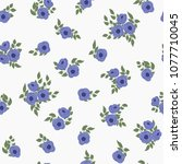 amazing seamless floral pattern ...   Shutterstock . vector #1077710045
