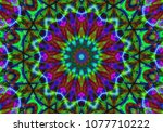 psychedelic background.... | Shutterstock . vector #1077710222