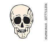 skull vector illustration. | Shutterstock .eps vector #1077711206