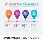 four steps infographics   can... | Shutterstock .eps vector #1077729878