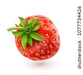 strawberry realistic icon ... | Shutterstock .eps vector #1077734426