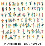 vector illustration in a flat...   Shutterstock .eps vector #1077739805