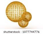 keyword of . gold color 3d... | Shutterstock . vector #1077744776