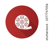 filmstrip roll flat design long ... | Shutterstock .eps vector #1077747056