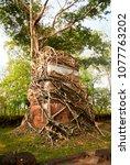 most south sanctuary prasat...   Shutterstock . vector #1077763202