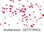 red and pink heart. valentine's ... | Shutterstock . vector #1077770912