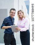 positive successful business...   Shutterstock . vector #1077788495